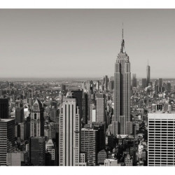 Black and white poster Empire State building
