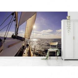 Poster panoramique bateau en mer