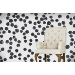 Black dot pattern wallpaper
