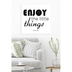Cuadro en lienzo de citas con mensaje positivo