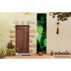 Tenture murale extérieure feuillage verte