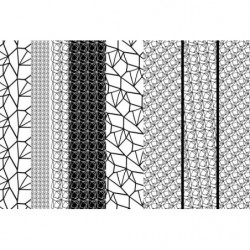 Papel pintado de diseño en blanco y negro