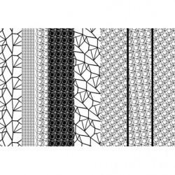 Papier peint design motifs noir et blanc