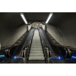Póster trampantojo escalera mecánica