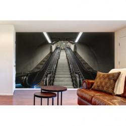 Papier peint trompe l'oeil escaliers roulants