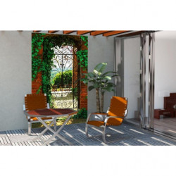 Tenture murale extérieure porte sur un jardin espagnol