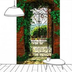 Tenture murale porte d'un jardin espagnol