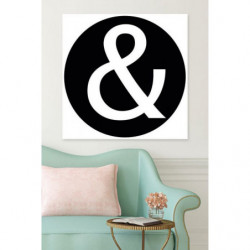 Black and white canvas print sign