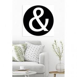 Tableau noir et blanc signe
