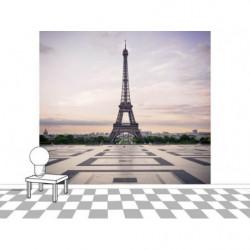 Papier peint Trocadéro Tour Eiffel Paris