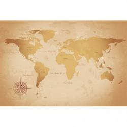 Papier peint map monde vintage