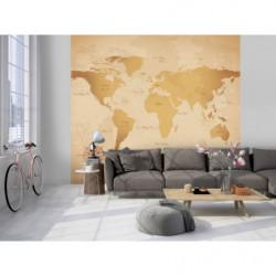 Papel pintado con el mapa del mundo de la época