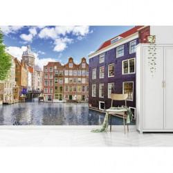 Poster Amsterdam photo maisons colorées