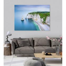 Tableau paysage des falaises d'Etretat
