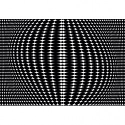 Ilusión óptica - cuadro en lienzo de diseño en blanco y negro