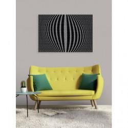Black and white design canvas print optical illusion