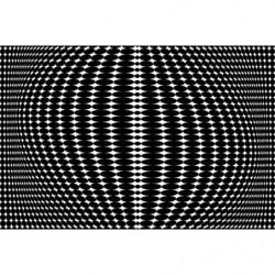 Papier peint design noir et blanc illusion d'optique