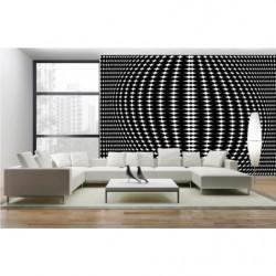 Black and white optical illusion design wallpaper