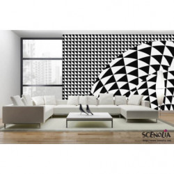 Hypnotic black and white design poster