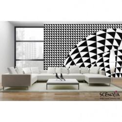 Poster design noir et blanc hypnotique