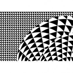 Póster de diseño hipnótico en blanco y negro
