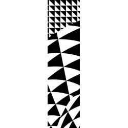 Tenture murale design et géométrique noir et blanc