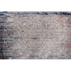 Poster trompe l'oeil brick industrial style