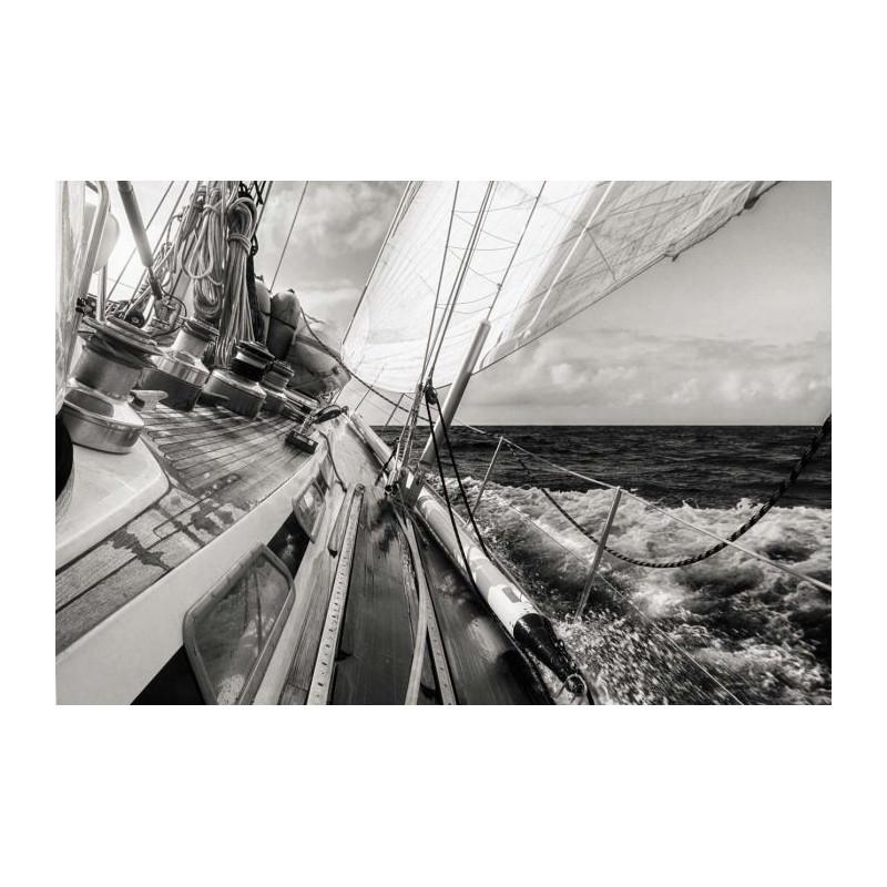 poster bateau photo marine d 39 un voilier en noir et blanc. Black Bedroom Furniture Sets. Home Design Ideas