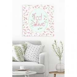 English proverbial canvas print for everyday joy