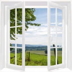 Canvas print window open on the nature