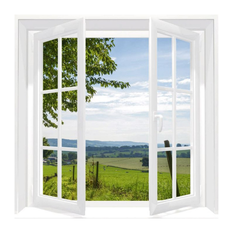 WINDOW ON THE COUNTRYSIDE Canvas print