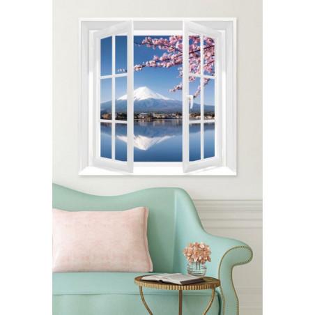 WINDOW ON MOUNT FUJI Canvas print