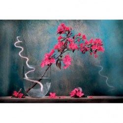 Tableau zen fleurs dans un vase