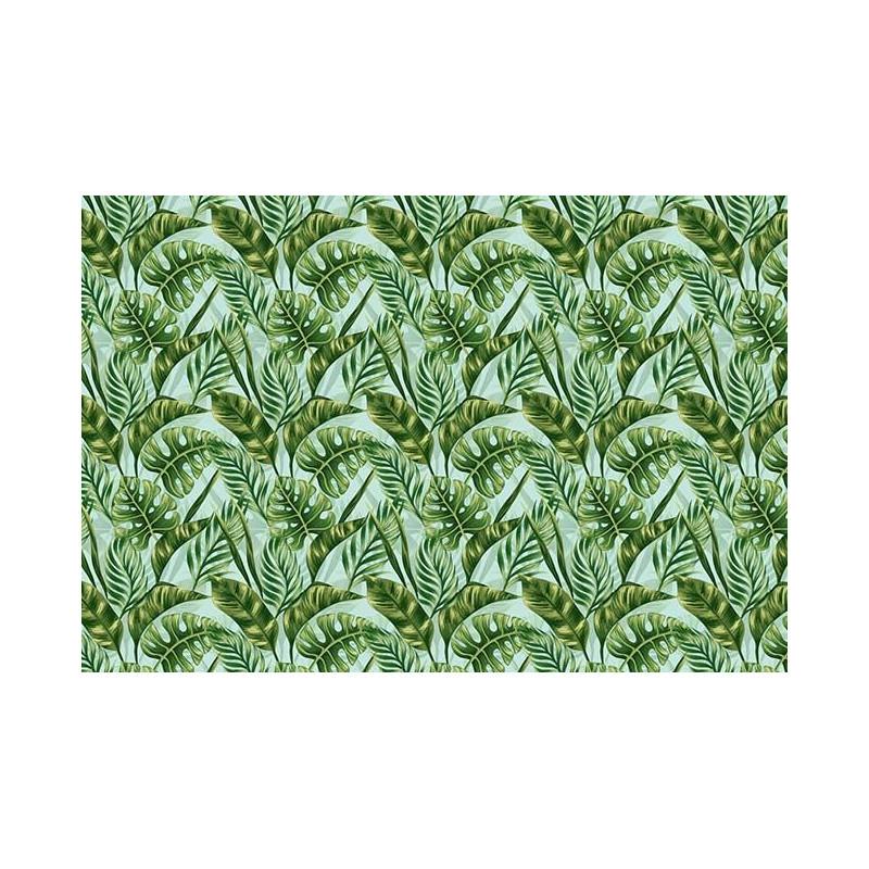 Papier peint à motif tendance jungle : feuillage tropical