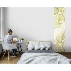Papier peint design motif doré