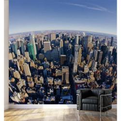 Papier peint photo New York en fisheye