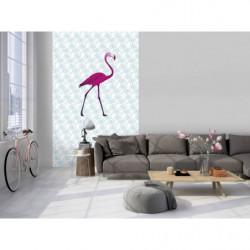Papier peint design flamant rose