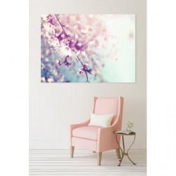 Tableau fleur zen aux couleurs pastel