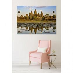 Pintura de paisaje de los templos de Angkor