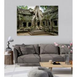 Tableau paysage des vestiges d'Angkor temples