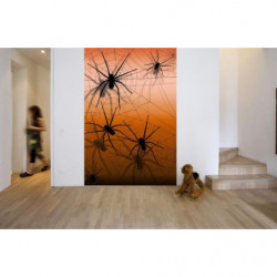 Tenture murale araignées géantes pour déco Halloween