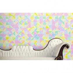 Papier peint motif triangles colorés