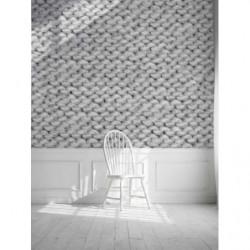 Papel pintado de lana angora gris