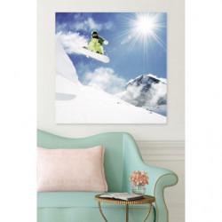 Tableau figure de ski journée ensolleillée
