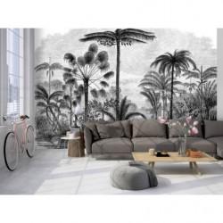 Poster tendance gravure tropical