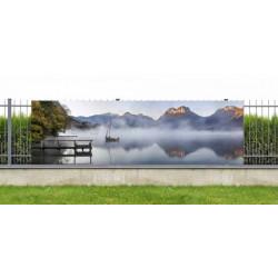 Brise vue lac d'Annecy dans la brume