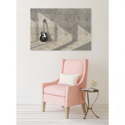 Tableau trompe l'oeil guitare sur le mur