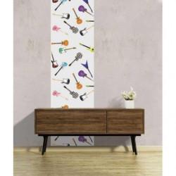 Tenture murale illustration guitares pour décoration colorée