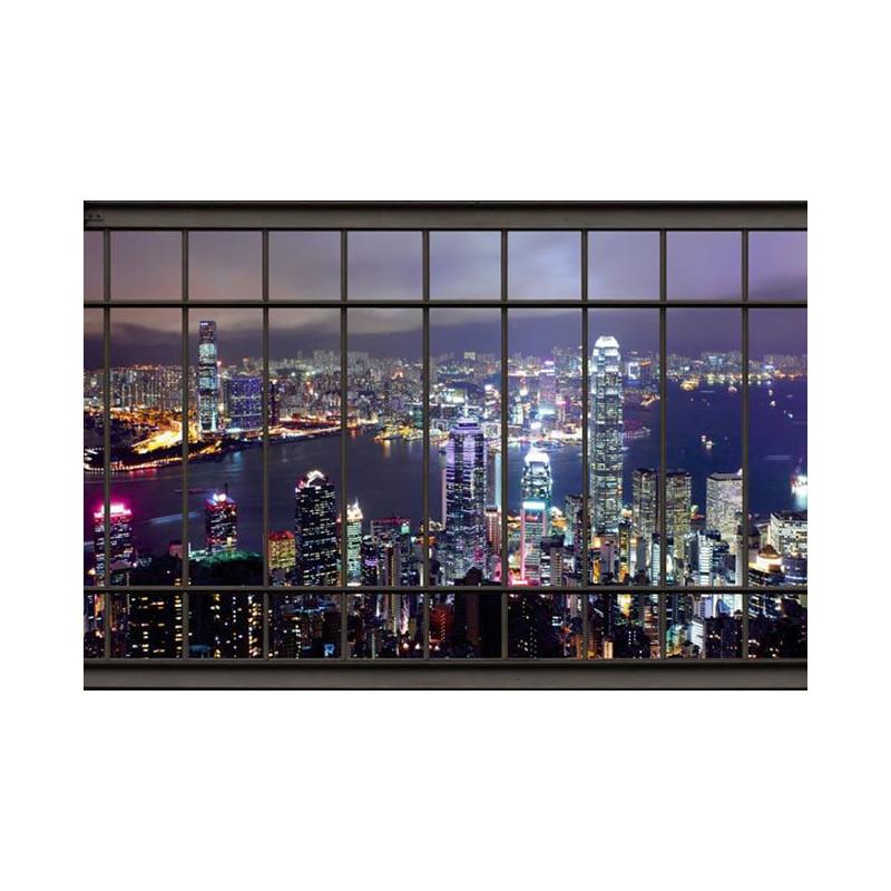 Harbor papier peint trompe l oeil vue sur hong kong