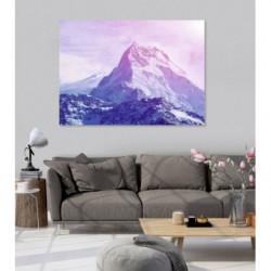 Tableau montagne romantique rose